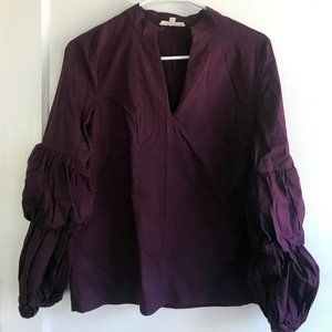 Ruffle Long-Sleeved Blouse